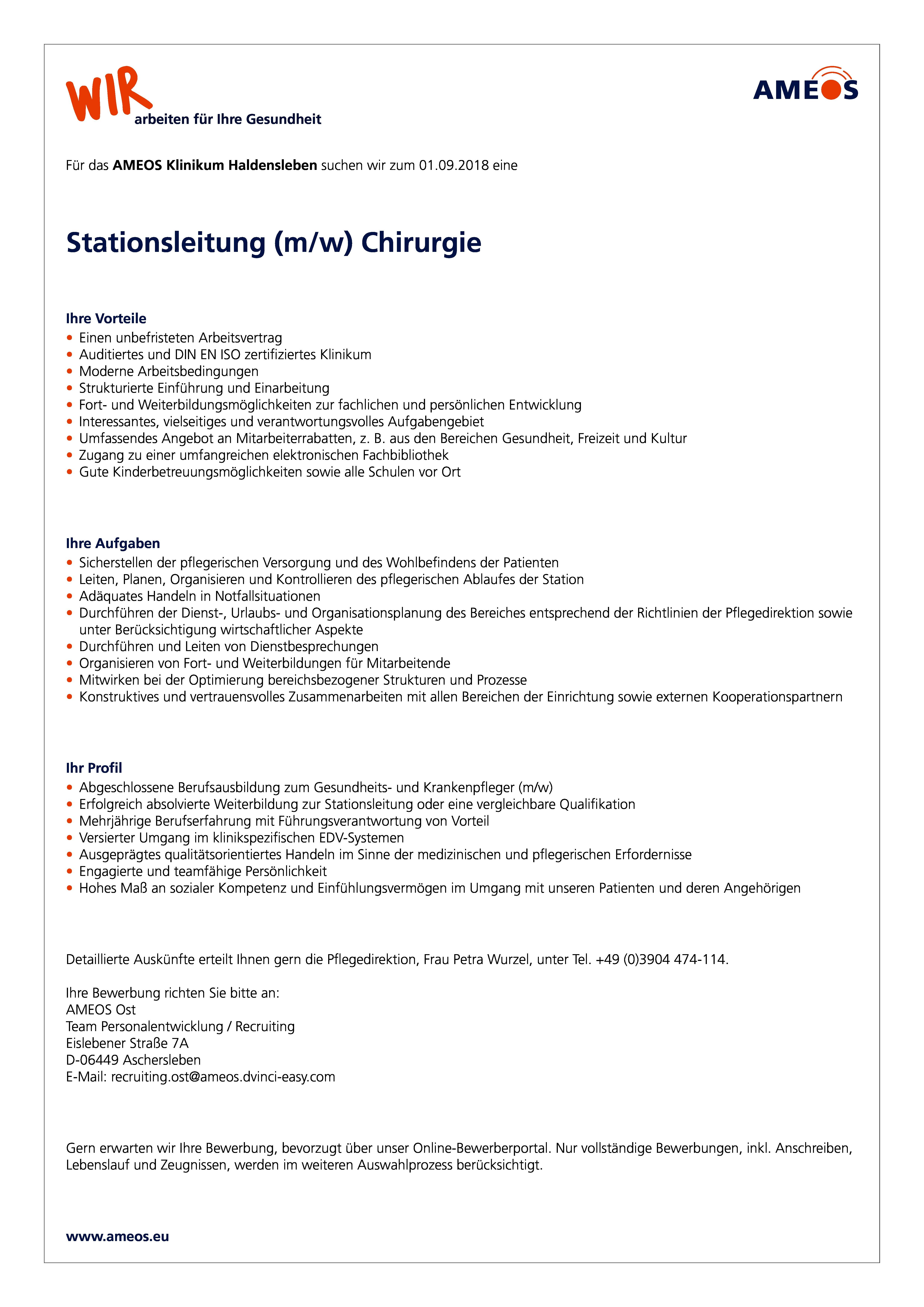 Stationsleitung Mw Chirurgie